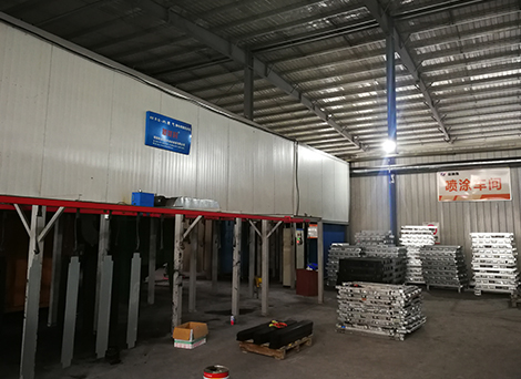 Painting dust removal equipment production line
